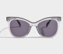 Bio-injected Sonnenbrille aus grauem Bio-Acetat