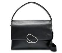 Alix Oversized Tasche aus schwarzem Lammleder