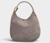 Handtasche Stevie aus Kalbsleder Dunkelgrau