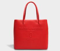 EW Logo Shopper Tasche aus rotem Pepper Split Kuhleder