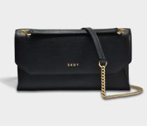 Sutton Envelope Clutch Tasche aus schwarzem gemustertem Leder