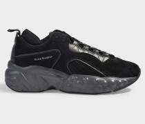 Manhattan Sneaker aus schwarzem Kalbsleder