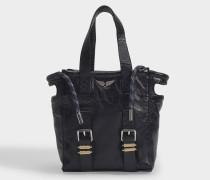Tasche Bianca Nano Crush aus schwarzem Leder