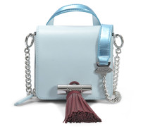 Sailor Chain Mini Top Handle Tasche aus himmelblauem Wildleder