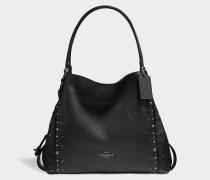 Edie 31 Shoulder Bag aus schwarzem Kalbsleder