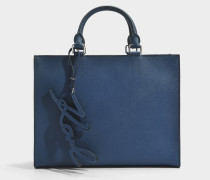 K/Signature Essential Shopper Tasche aus Deep Pundrol Saffiano