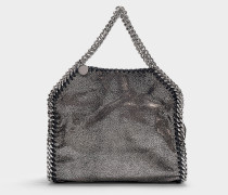 Mini Shopper Falabella Shiny Dotted Chamois aus Metallic Synthetikmaterial