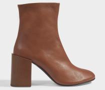 Saul Logo ankle boots aus braunem Lammleder