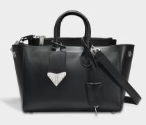 Small Tote Bag aus schwarzem Kalbsleder