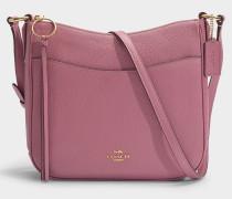 Tasche Crossbody Chaise aus rosa Kalbsleder