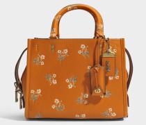 Rogue Tasche 25 aus orangefarbenemfarbenem Kalbsleder