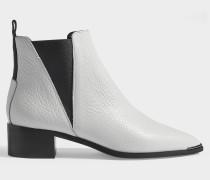 Jensen Ankle Boots aus weißem Kalbsleder