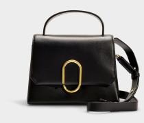 Handtasche Mini Alix aus schwarzem Kalbsleder