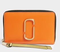 Snapshot Small Stundard Geldbörse aus Orange Split Kuhleder