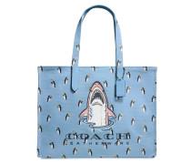 Sharky 42 Tote Bag aus blauem Canvas
