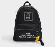 Pictogram Rucksack aus schwarzem Nylon