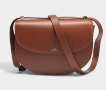 Handtasche Genève aus braunem Kalbsleder