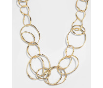 Maria Long Halskette aus 18K vergoldetem Messing