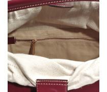 Hand Carry Tote Bag aus Burgundy Kalbsleder