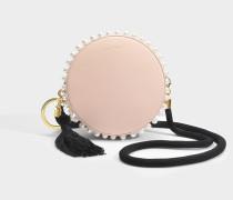 Rena Tambour Stud Tasche aus rosanem Kalbsleder