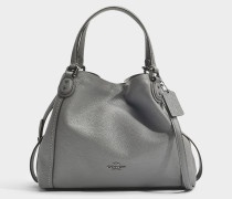 Edie 28 Shoulder Bag aus grauem Kalbsleder