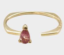Ring in 9K Gelbgold mit rosanem TourmalineSchmucksteinen