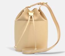 Clara Tasche aus Naturel beigem glänzend und Nubuk Leder