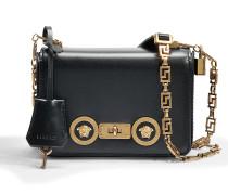 Tribute Icon Small Shoulder Bag aus schwarzem Kalbsleder