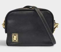 Handtasche The Mini Squeeze aus schwarzem Kalbsleder