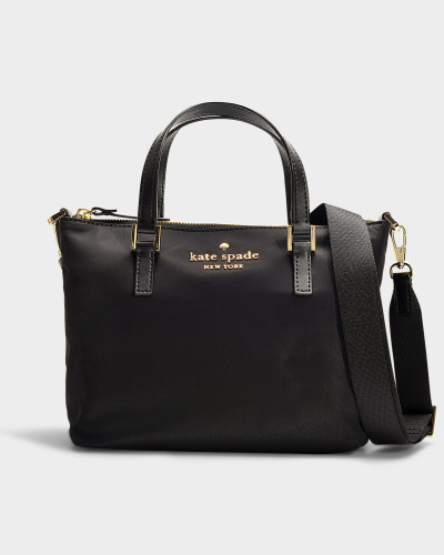 Handtasche mit Schulterriemen Lucie Cameron Street aus schwarzem Nylon