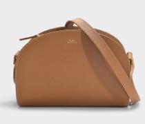 Tasche Demi-Lune aus braunem Saffianoleder