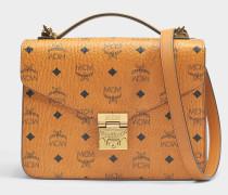 Patricia Satchel Tasche in Cognac sandfarben