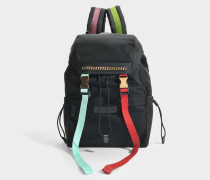 Öko Nylon Falabella Go Backpack aus schwarzem und Multi Polyurethan