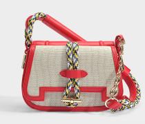 Mazarine small Tasche aus Espelette Nappa Leder und Baumwolle