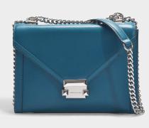 Whitney Large Shoulder Bag in Blue Calfskin