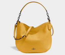 Chelsea 32 Hobo Tasche aus gelbem Kalbsleder