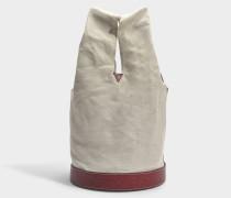 Bucket Tasche Hand Carry aus Burgundy Kalbsleder