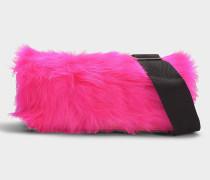 Handtasche mit Schulterriemen Ray Ringtte aus rosa Kalbsleder Neon