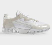 Sneakers Stadium aus weißem Wildleder und PVC