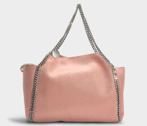 Wendbarer Shopper Falabella Tote Shaggy Deer aus Synthetikmaterial in Blush Nude
