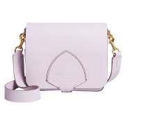 The Square Satchel Tasche aus lavendelfarbenem geschmeidigem Leder