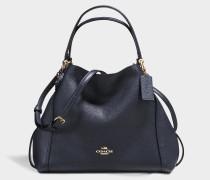 Handtasche Edie 28 aus marineblauem Kalbsleder