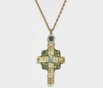 Tribute Madonne Halskette aus goldfarbenem Messing