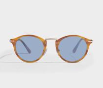 0PO3166S Sonnenbrille aus blauem Acetat