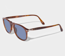 0PO9649S Sonnenbrille aus blauem Acetat