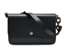 Spring Large Tasche aus schwarzem Kuhleder