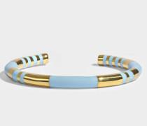 Positano Bracelet in Ciel und aus 18K vergoldetem Messing