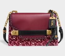 Swagger Chain Crosbody Tasche aus Burgundy Kalbsleder
