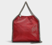 Mini Shopper Falabella Tote Shaggy Deer aus Synthetikmaterial in Rot