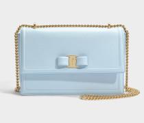 Giny Tasche aus hellblauem Kalbsleder